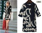 2014 New Ladies Half Sleeve Floral Evening Party Formal Womens T shirts Dress A+