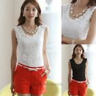 Sexy Women's Knitted Lace Spaghetti Strap Sleeveless Tank Top Shirt Vest Blouse