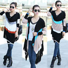 Women's Batwing Sleeve Knitted Cardigan Asymetry Hem Loose Casual Sweater HOT