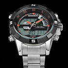USPS Shipping Men Casual Smart Digital Stainless Steel Sports Quartz LED Watch M
