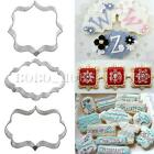 Frame Cookies Pastry Fondant Cake Sugarcraft Decorating Mold Cutter Baking Tool