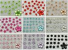 1000 Flatback Acrylic Faceted Flower Rhinestone Gems 6mm Pick Your Color