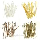 100Pcs Silver/Gold/Copper/Bronze Plated Head Pins 15mm