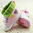 Toddler Baby girl pink star High-top Soft Sole shoes Crib Shoe Size 0-18Month/U5