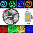 3528 1-5M SMD RGB White Warm Blue Red Green Yellow 300LED Waterproof Strip Light