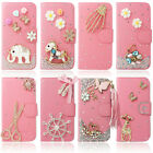 Pink Bling Diamond Wallet Leather Stand Case Cover For HTC Desire 610