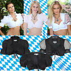 Blouse Dirndl Lace Organza Blouse Oktoberfest Traditional Costume Cropped Top