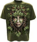 Spiral Direct Oak Queen Celtic Tree Yin Yang Forest Green Short Sleeved Tshirt