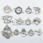 13Set Tibetan Silver Butterfly Heart Toggle Clasps DIY Finding Marking Connector