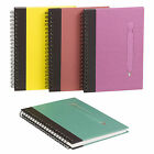 A5 Notebook Notepad Spiral Bound Hardback Ruled Lined Jotter Diary Pen Wirebound