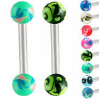 pair straight bar barbell piercing eyebrow rings jewelry 9IBW-PICK STYLE&LENGTH