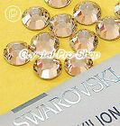 GENUINE Swarovski Silk ( 391 )  Hotfix Rhinestone Iron On Round Crystal Bead Gem