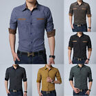 2014 Muscle Mens Luxury Casual Slim Stylish Long Sleeve Button Dress Shirts