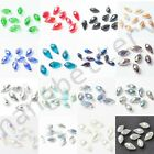 10 Pcs Glass Crystal Faceted Teardrop Charms Spacer Loose  Beads Findings 12 mm