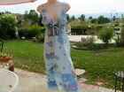 BUTTERFLY DROPOUT  Blue ANGELS SUN DRESS NWT S Med  MYSTICAL BURNOUT Cotton Poly