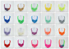 fashion thick rope weave chinese knot bubble fluorescent color cotton necklace