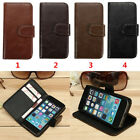 Retro Ancient Vintage Leather Flip Wallet Card Stand Case Cover For iPhone 5 5s
