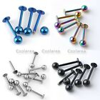 10x Stainless Steel 18G 16G Barbell Ball Labret Lip 8/10mm Rings Body Piercing