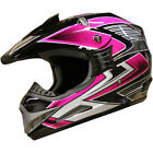 Motocross DirtBike ATV Off Road racing Helmet DOT 189 Pink