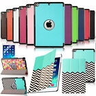Ultra Slim Smart Cover Leather Case Stand For Apple iPad Air 5 w/ Hard Back Case