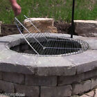Foldable Round Chrome Plated Outdoor Fire Pit Cooking Grill Grate