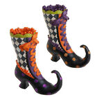 Witch Boot Container resin Halloween decoration 10.5 inches  h3311138  NEW RAZ