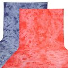 10x20' Dye Muslin Backdrop Photo Studio Red/Blue 100% Cotton Tie Dyed Background