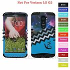 For LG G2 Love Anchor Chevron Wave Galaxy Hybrid Rugged Impact Armor Case Cover