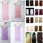 long 3/4Full Head straight curly wavy Pink Purple blonde clip in hair extensions