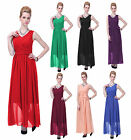 Formal Dress Women Long Evening Gown V-Neck Bridesmaid Wedding Party 2 - 20