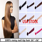 USA stock! 18 inch Remy Nail Tip Human Hair Extensions 50g, 3-5 days delivery!