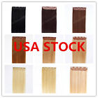 USA STOCK! 16inch Indian Remy Human One Piece Volumizer Clip In Extensions 55g