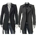 Attractive Men's Comfy Slim Fit Double Breasted Strap Trench Coats Jackets US WB