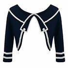Hell Bunny Rachael Blue Nautical Sailor Style Bolero Shrug Cardigan Top