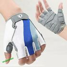 Sports Cycling Bicycle Motorcycle Gel Silicone Half Finger Fingerless Glove M-XL