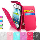 Shine Bling Flip Leather Wallet Pouch Case Cover For Samsung Galaxy Fame S6810