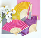 50 Colored Silk Fans Bridal Shower Wedding Favors - 12 Colors To Choose From!