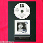 KATE BUSH The Whole Story Album Signed CD DISC MOUNTED A4 Autograph Repro (56)