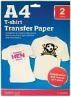 A4 IRON ON T SHIRT HEAT TRANSFER PAPER SHEET LIGHT FABRIC HEN STAG PARTY