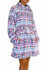 Womens Zip Dressing Gown Ladies Zipped Soft Robe New Size 8 10 12 14 16 18 20