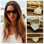 Delicate gold/silver Simple heart style Lariat Necklace pendent Lover XMAS Gift