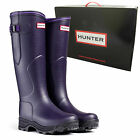 *NEW* Hunter Balmoral LADY NEOPRENE Aubergine Wellington Boots Wellies