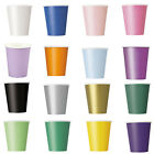 14x 9oz (265ml) Paper Cups Solid Colours Party Events Catering Food Tableware