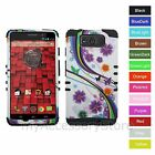 For Motorola Droid Maxx / Ultra Butterfly Flower Hybrid Rugged Impact Case Cover