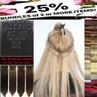 "Natural 22"" Full Head 8PCS or 24 half head 1pc Clip in on Hair Extensions blonde"