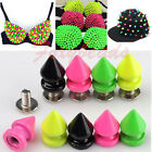 20p Candy Color 8x12mm Spike Rivet Screw Beads Metal Cone Studs Nailhead DIY