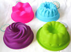 NEW SILICONE MINI CAKE BAKING TIN MOULD RING BUNDT SAVARIN 10cm PMS
