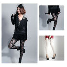 Sexy Women Lady Rose Lace Through Leggings Pants Footless Tights Two Colors New
