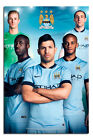 Manchester City Players 2014 - 2015 Season Poster New - Maxi Size 36 x 24 Inch