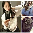 3 Color Hot Sale Womens Pullover Sweater Embossed Print Jumper Knit Coat Tops N4